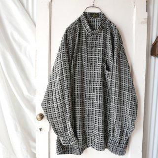 A・JOURNEY MONOチェックスタンドカラーシャツ