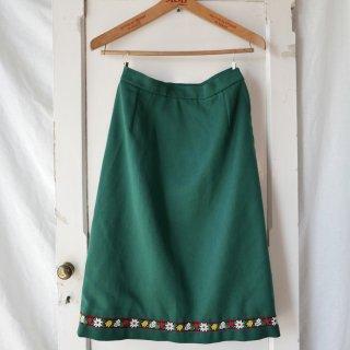 フラワー刺繍チロリアン アンティークスカート