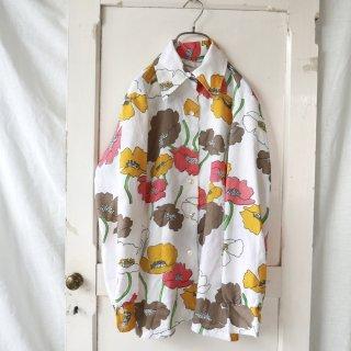 芥子の花アンティークシャツ
