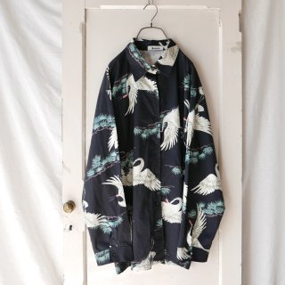 Sonco 鶴と松 Black Shirt