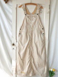 PINK HOUSE ロゴワッペン×チェック コーデュロイジャンパースカート