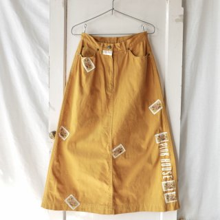 PINK HOUSE タテロゴ×くまちゃんワッペンAラインスカート
