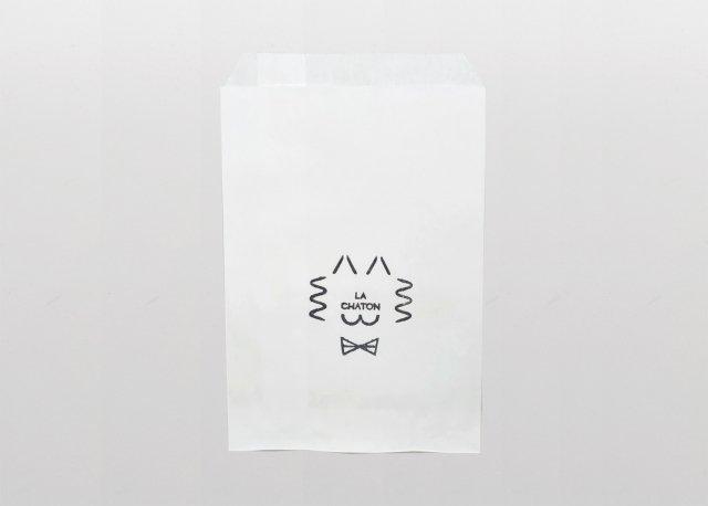 LA CHATON ロゴ入りマチなし袋