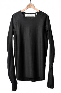 individual sentiments  raw edge basic jersey / black