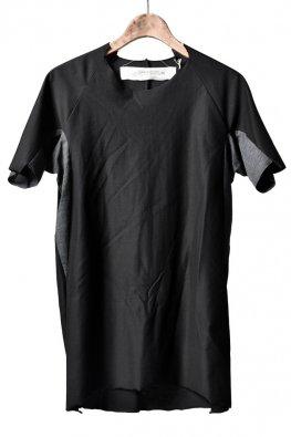 individual sentiments  2tone raglan short sleeve basic jersey / black