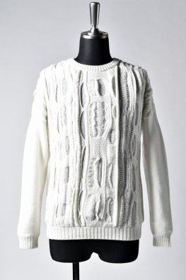 individual sentiments  wool jacquard knit / ecru white