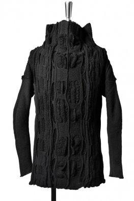 individual sentiments  wool jacquard high-neck knit / black
