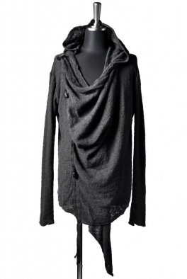 ARMY OF ME  Toggle Piece Button Draped Cardigan  91 / Anthracite