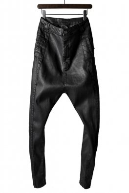 ARMY OF ME  Dropped Crotch Coated Denim 39 / Black