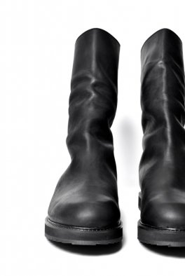 ARMY OF ME Tilted Leather Boots  / Black