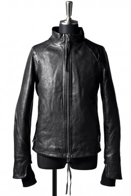 ARMY OF ME scar stitched heavy leather jacket / black