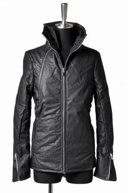 <img class='new_mark_img1' src='https://img.shop-pro.jp/img/new/icons8.gif' style='border:none;display:inline;margin:0px;padding:0px;width:auto;' />incarnation Calf Leather WideNeck Dual Zip Down Blouson