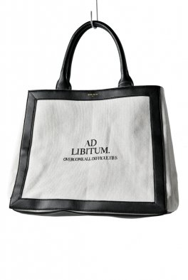 NIL DUE / NIL UN TOKYO LEATHER MASKING CANVAS TOTE LARGE