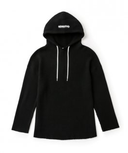 <img class='new_mark_img1' src='https://img.shop-pro.jp/img/new/icons8.gif' style='border:none;display:inline;margin:0px;padding:0px;width:auto;' />NIL DUE / NIL UN TOKYO  PULLOVER WAFFLE HOODIE BLACK