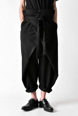 individual sentiments Stretch flannnel Wrap Trousers