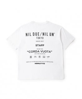 NIL DUE / NIL UN TOKYO  STAFFS SWEAT BIG TEE WHITE