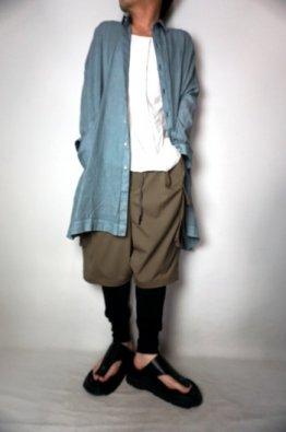 vital Indigo Dyed Long Big Shirts