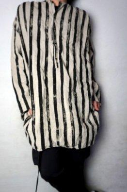 vital Stripe Print No-Collar Shirts