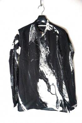 vital Print Stand-up Collar Shirt