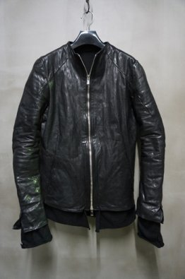 incarnation 10th Anniversary Vol,2 No Collar Moto Modify  Calf Leather Blouson