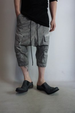 A.F ARTEFACT Dyed Switching Cropped Sarrouel Pants