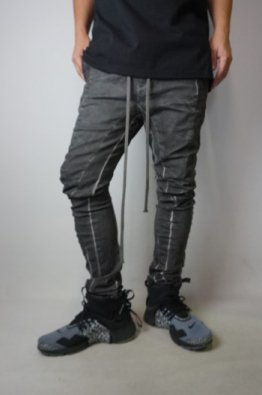 A.F ARTEFACT Dyed Anatomical Fited Stretch Curved Long Pants