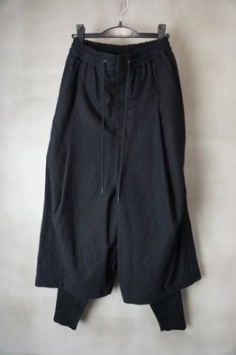 DEVOA Layerd pants Virgin wool Stripe