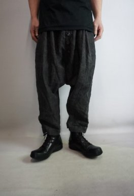 vital Sumi Dyed Low Crotch Wide Pants