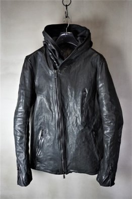 <img class='new_mark_img1' src='https://img.shop-pro.jp/img/new/icons8.gif' style='border:none;display:inline;margin:0px;padding:0px;width:auto;' />incarnation Horse Leather W/Breast Hooded Zip Blouson Lined