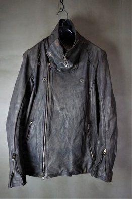 <img class='new_mark_img1' src='https://img.shop-pro.jp/img/new/icons8.gif' style='border:none;display:inline;margin:0px;padding:0px;width:auto;' />incarnation Horse Leather W/Breast Moto Darts Shoulder Blouson Lined JB-3
