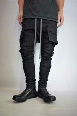 A.F ARTEFACT Cargo Stretch Denim Sarrouel Skinny Pants