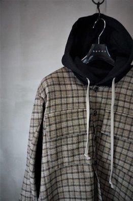 DEVOA Layerd shirt Virgin wool canapa check