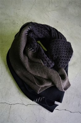 <img class='new_mark_img1' src='https://img.shop-pro.jp/img/new/icons8.gif' style='border:none;display:inline;margin:0px;padding:0px;width:auto;' />DEVOA  Patchwork Stole merino wool/ cotton