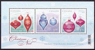 カナダの切手・クリスマス・オーナメント・小型シート・2010