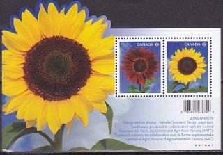 カナダの切手・ひまわり・小型シート・2011