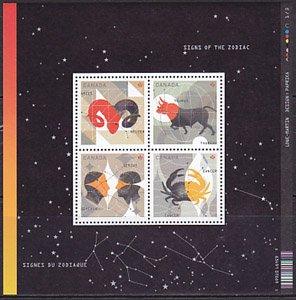 カナダ・星座・一次・小型シート切手・2011