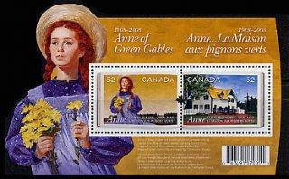 カナダの切手・赤毛のアン・小型シート・2008