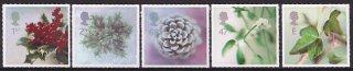 イギリス・クリスマス・植物・切手・2002(5)
