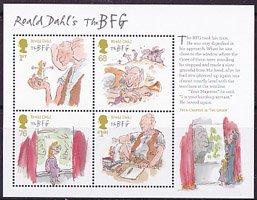 イギリスの切手・ロアルド・ダール・小型シート・2012