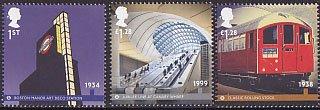 イギリスの切手・ロンドンの地下鉄・2013(6)
