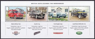 イギリスの切手・ヨーロッパ・郵便車・2013・S/S