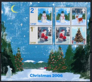 イギリス・クリスマス・小型シート切手・2006