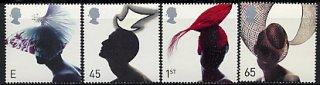 イギリスの切手・素敵な帽子・2001(4)