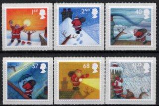 イギリスの切手・クリスマス・サンタクロース・2004(6)セルフ糊