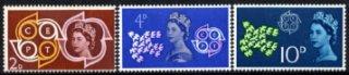 イギリスの切手・欧州郵便電信会議CEPT・1961(3)