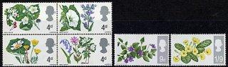 イギリスの切手・野生の花・1967(6)