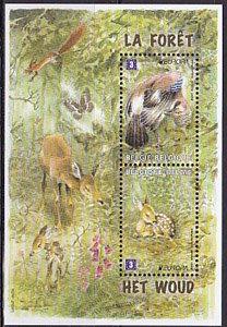 ベルギー・ヨーロッパ森林・小型シート切手・2009