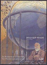 ベルギー・ポール・オトレ・小型シート切手・2010