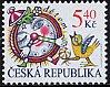 チェコの切手・子どもたちのために(時計)2000