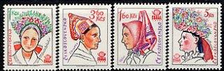 チェコスロバキアの切手・花飾り(4)